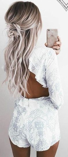 Ideas to go blonde - Icy long balayage