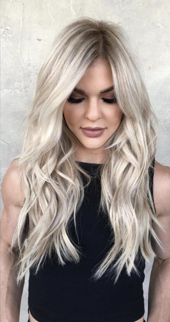 Ideas to go blonde - long icy balayage ...