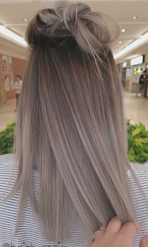 Ideas To Go Blonde Long Icy Ombre