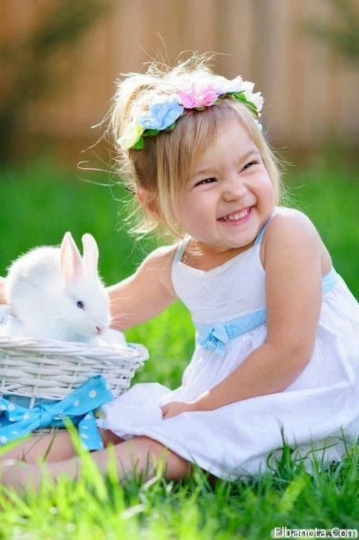 kids and bunnies smile