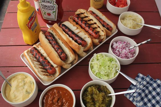 Barbecue Party hot dogs
