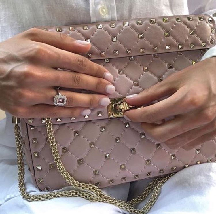 Valentino Garavani dusty pink handbag luxury