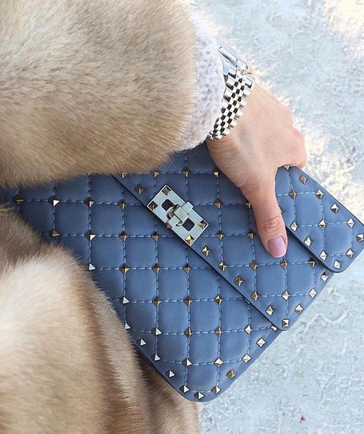 Valentino Garavani grey handbag luxury