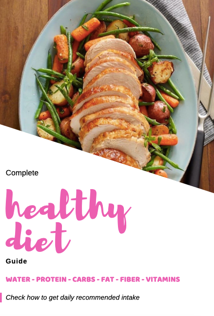 complete guide to a healthy diet daily reccomended intake
