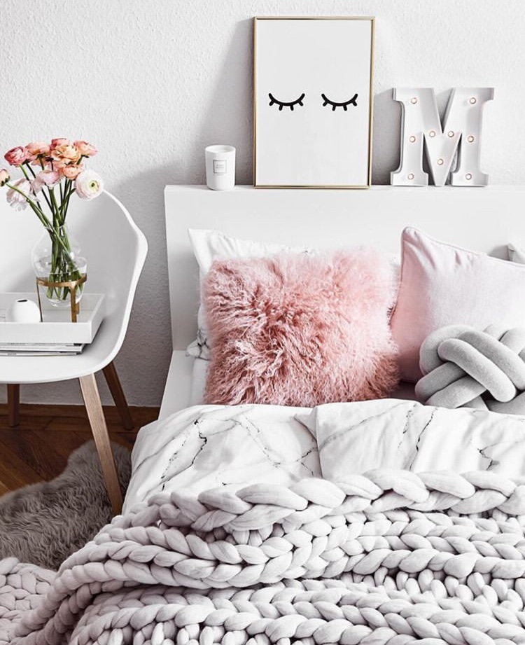 self care bedroom cosy flowers interiors
