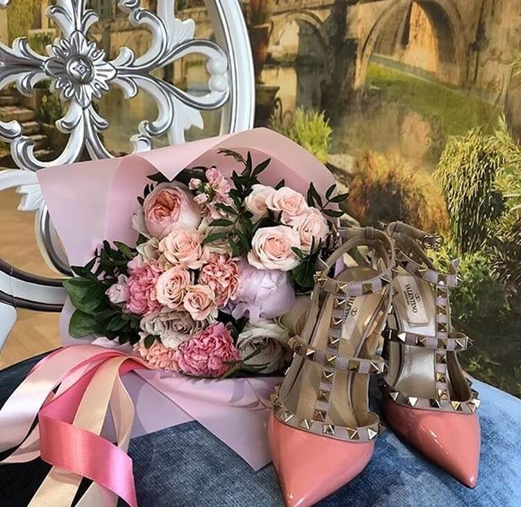 valentino garavani rockstud heels luxury coral
