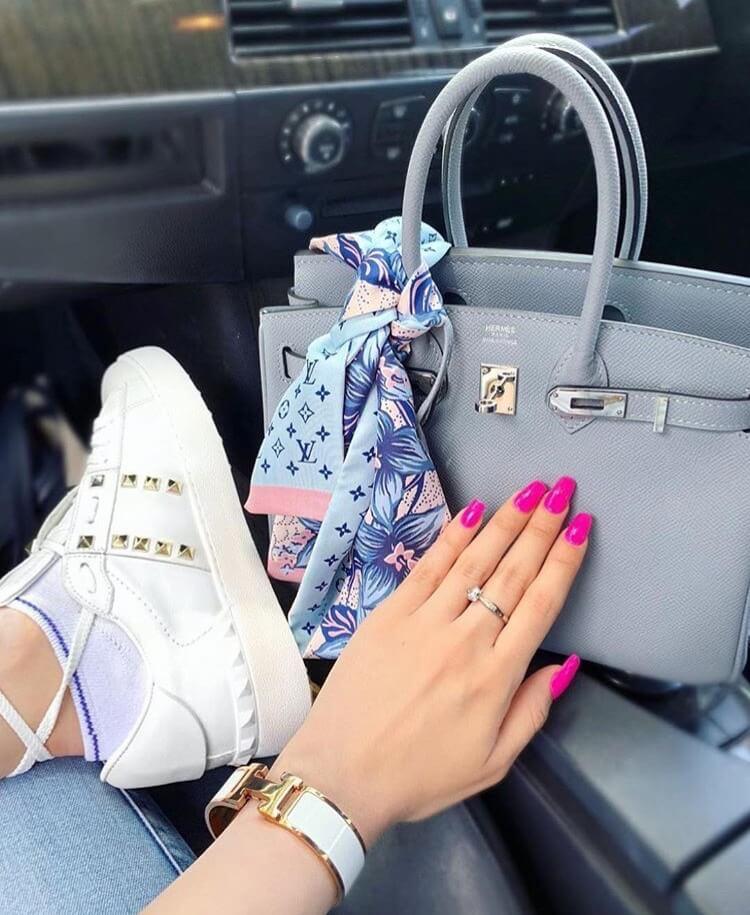 valentino garavani rockstud luxury white sneakers car