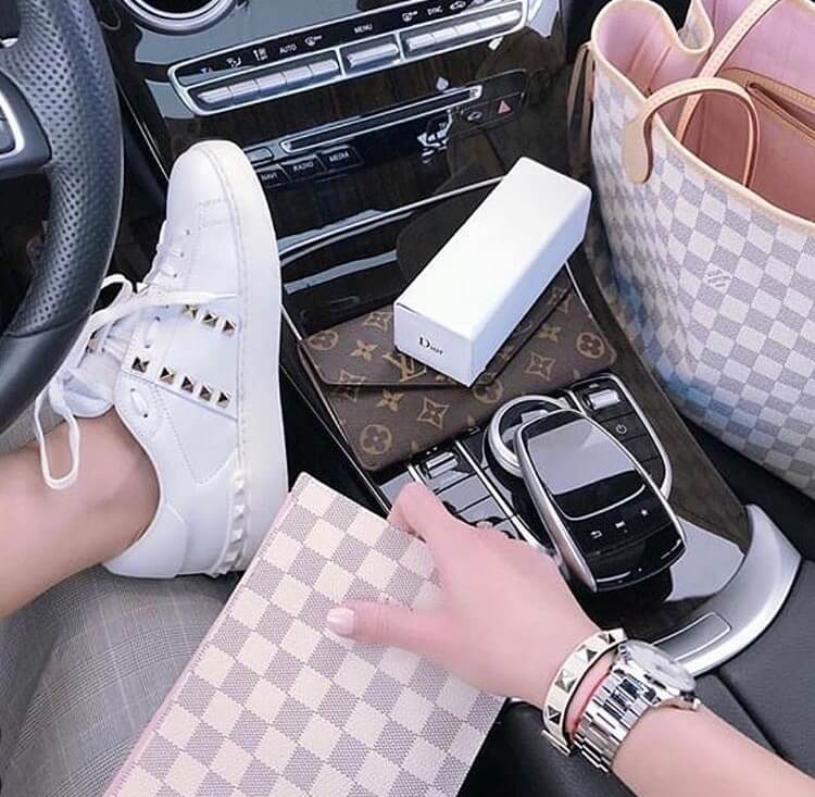 valentino garavani rockstud luxury white sneakers lv