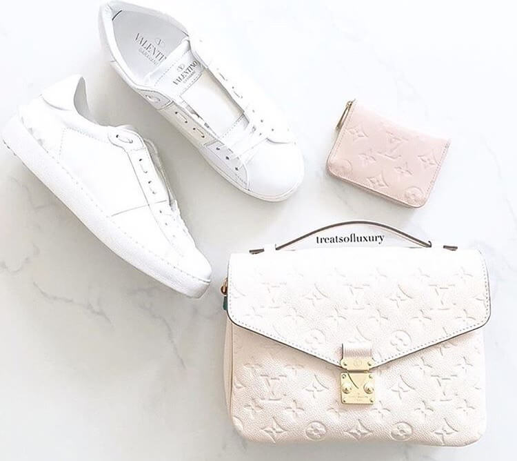 valentino garavani rockstud luxury white sneakers
