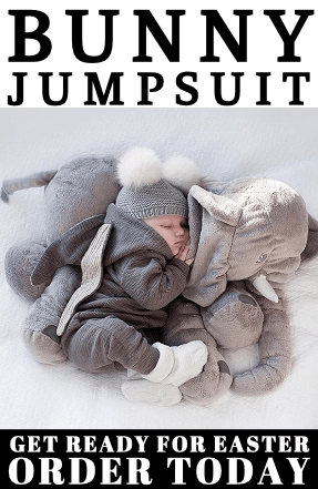 bunny romper, baby jumpsuit