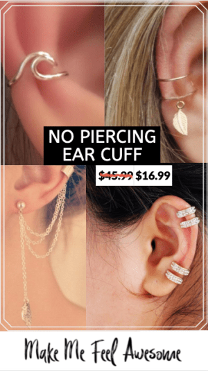 no piercing ear cuff jewelery