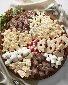 Holiday cookie board