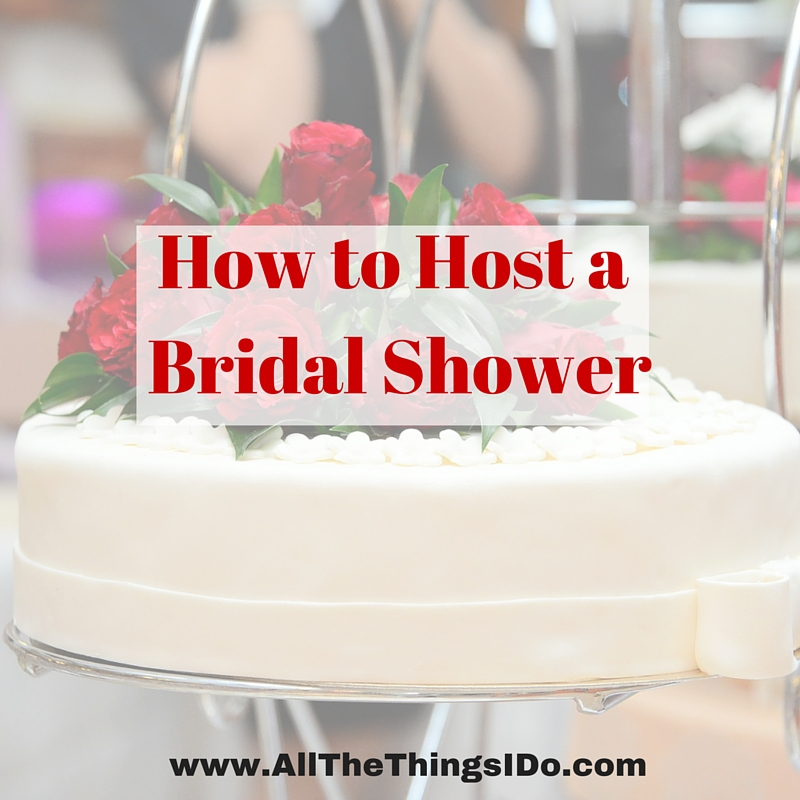 hosting a bridal shower when you live out of town