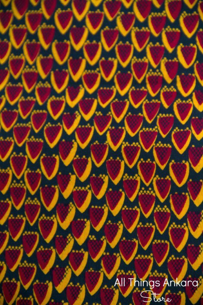 Red Yellow & Black Wedge Half Wax Prints