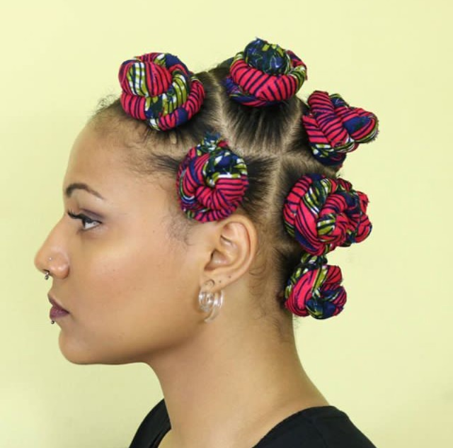 Hair ankara bantu knots by laetitia ky she uses a number of different tools to make her designs a reality including pins wool and fabric altavistaventures Images