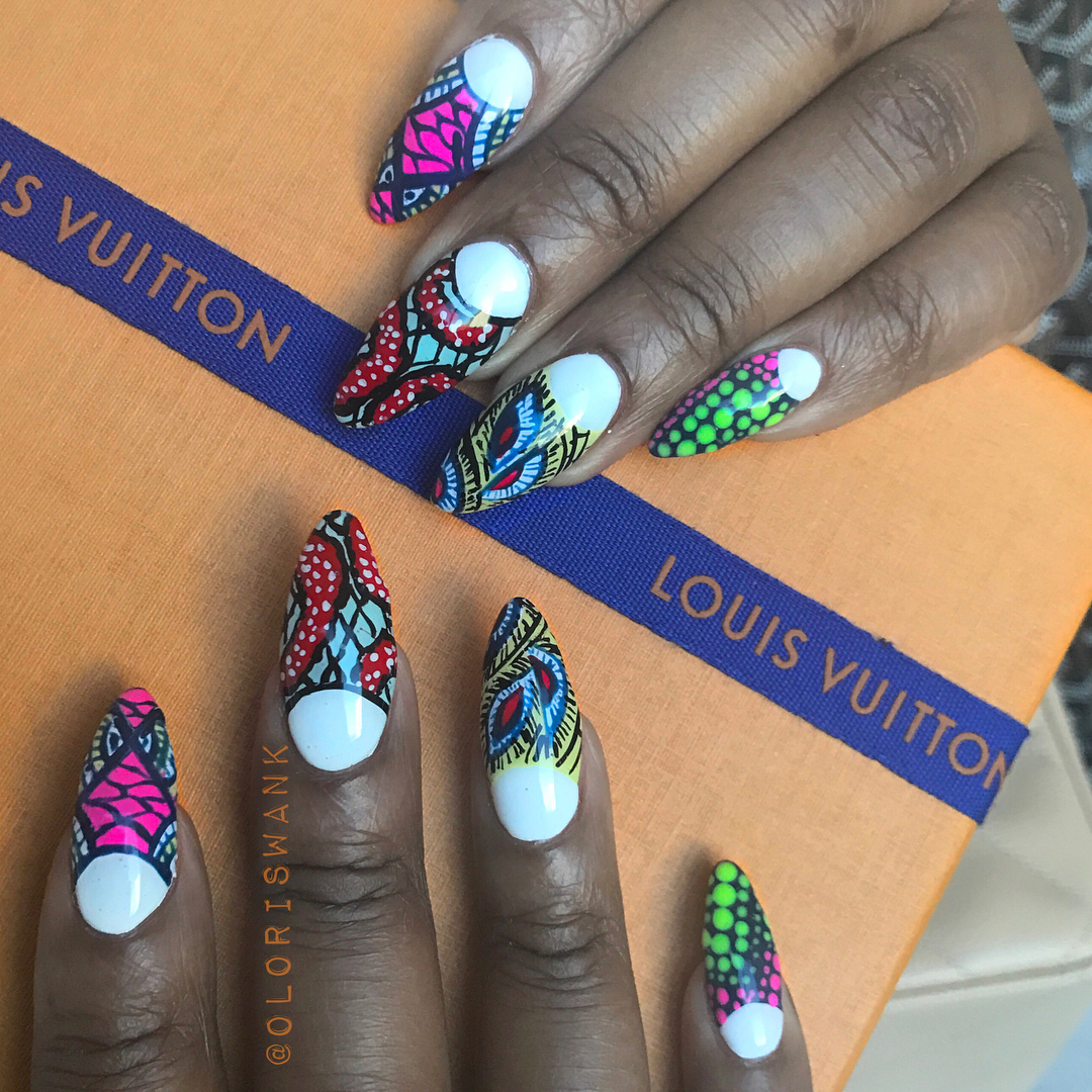 Nail Art: Ankara Print Nails by The Illustrated Nail