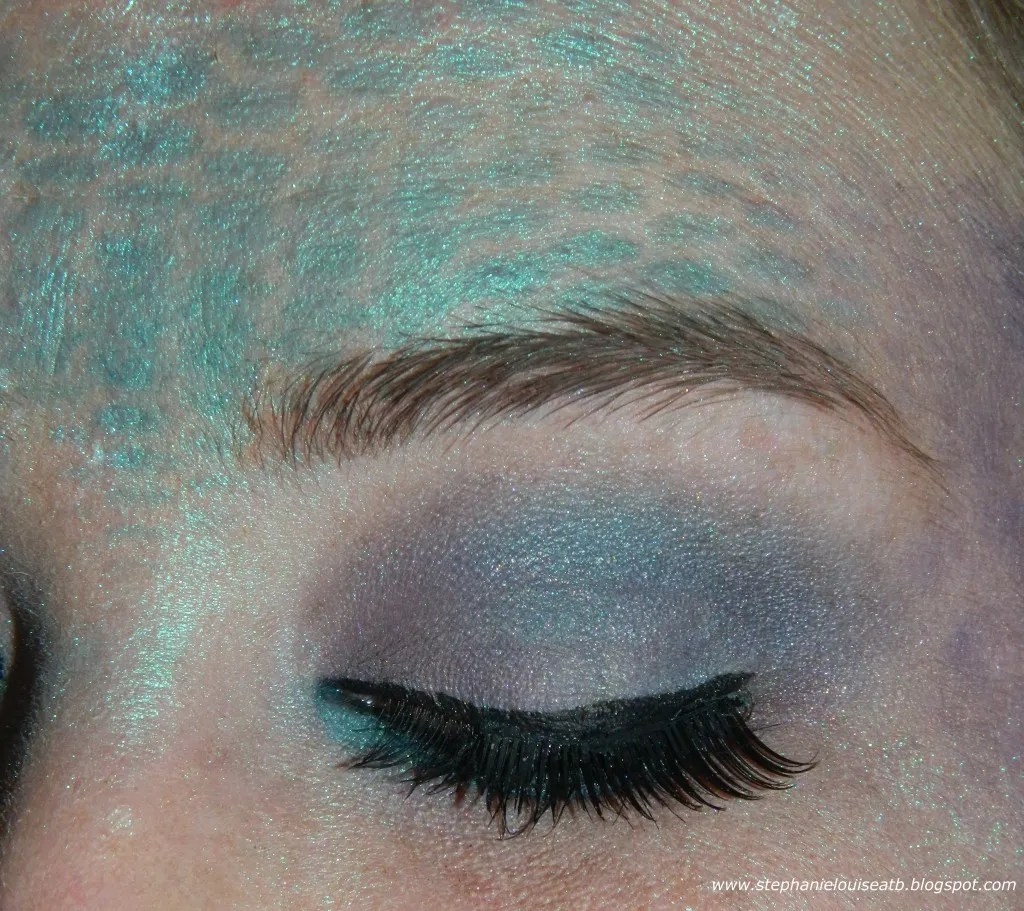 Drugstore Mermaid Costume Makeup Tutorial- with Scales & Glitz!