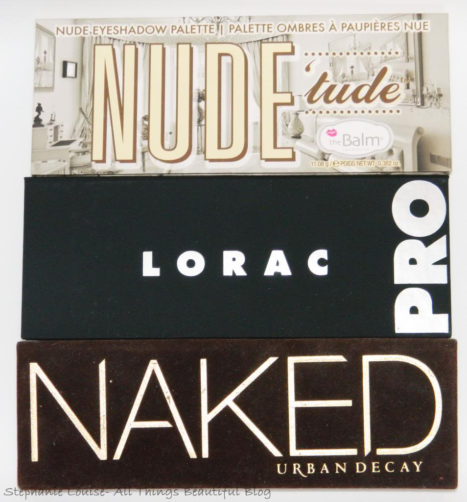 Requested: Lorac Pro vs. Urban Decay Naked vs. The Balm Nude 'Tude Palette (Detailed!)