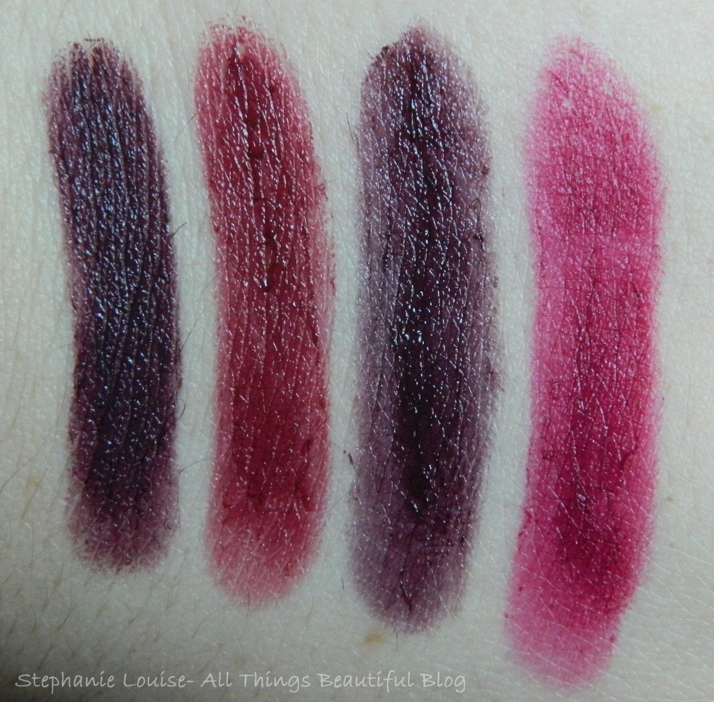 Maybelline Fall 2013 Limited Edition Shade Comparisons + Purple Ombre!