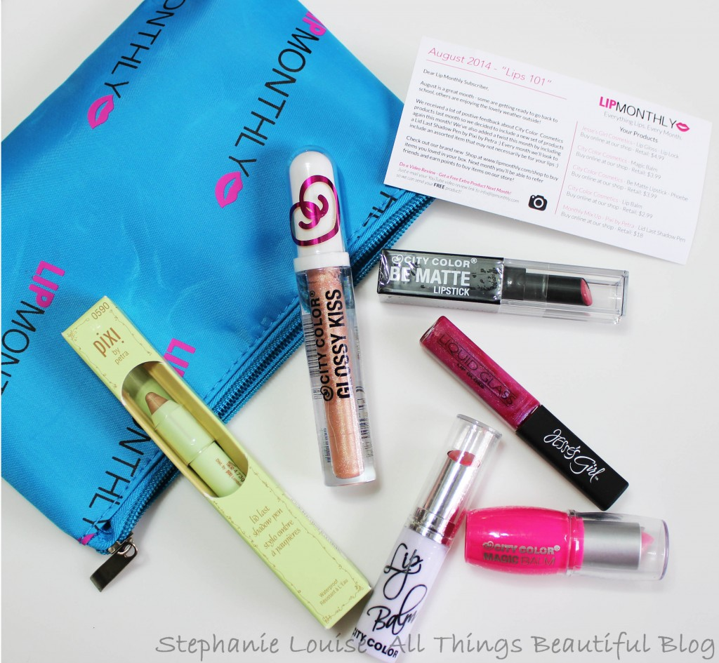 Lip Monthly Subscription for August 2014 with Swatches & Review
