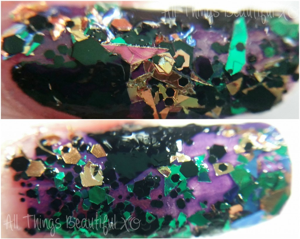 A is for Angles Nail Art with Sinful Colors Halloween 2014 Glitters + Nail Art Linkup!
