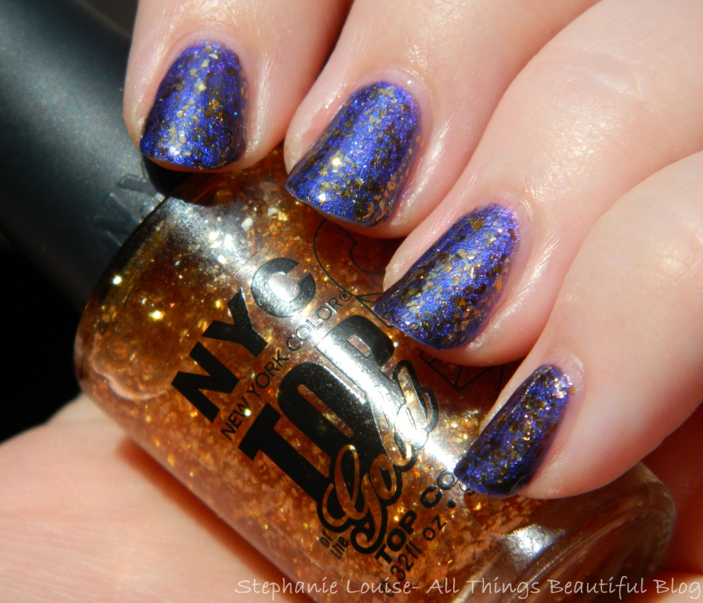 NYC Nail Polish in Top of the Gold Top Coat Swatches & Review