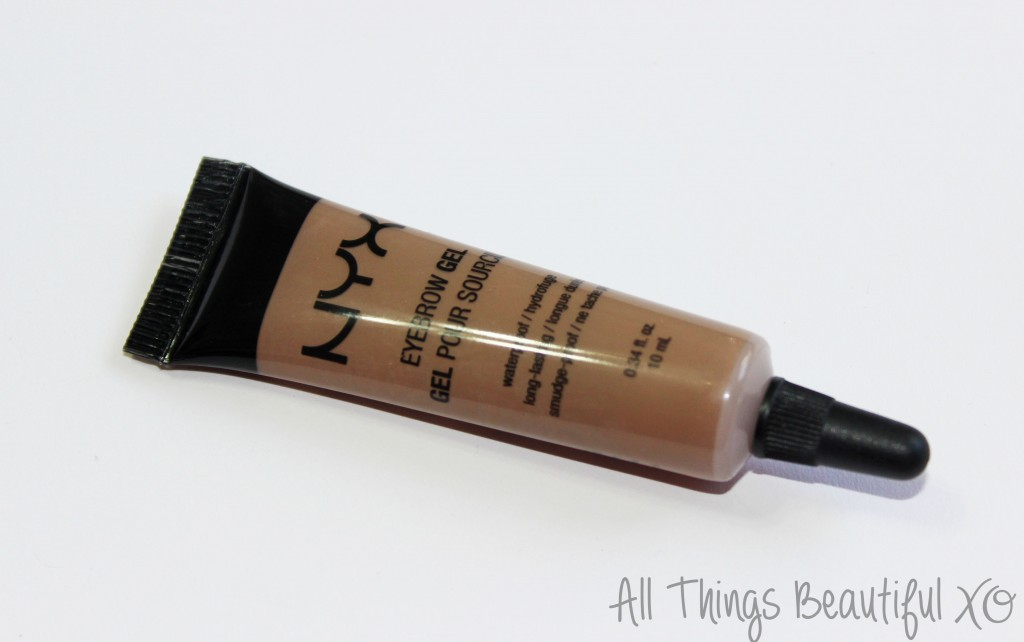 NYX Eyebrow Gel in Blonde Review & Brow Demo from All Things Beautiful XO