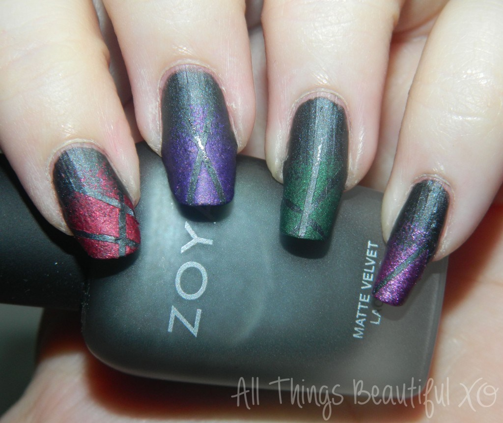 C is for Copy Cat with Zoya Matte Velvet Nail Art  via All Things Beautiful XO #nailart #zoya
