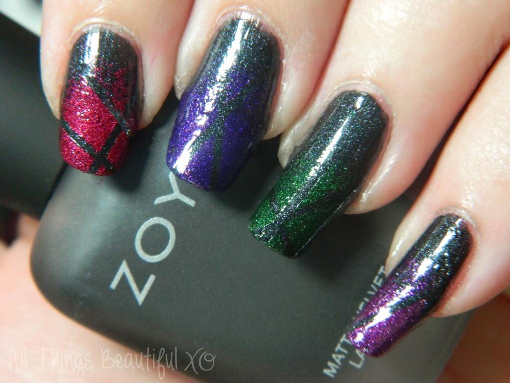 C is for Copy Cat with Zoya Matte Velvet Nail Art  via All Things Beautiful XO #nailart #zoya