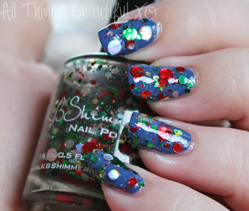 Kringle All the Way from the KBShimmer Holiday Nail Polishes for Winter 2014 Swatches & Review on All Things Beautiful XO