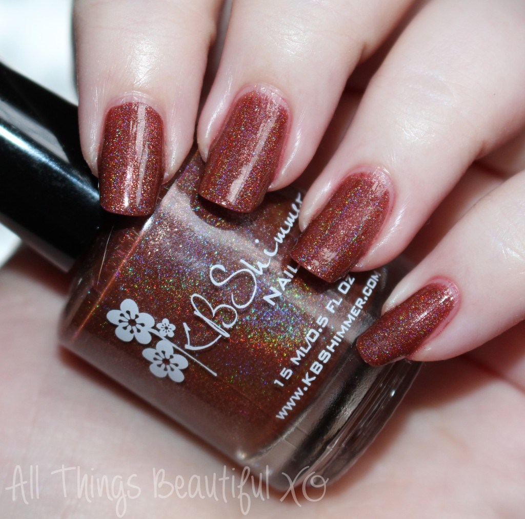 Deja Brew from the KBShimmer Holiday Nail Polishes for Winter 2014 Swatches & Review on All Things Beautiful XO