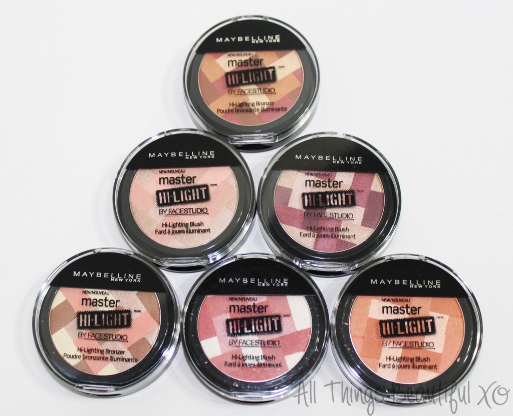 Maybelline Master Hi-Light Blushes & Bronzers Full Swatches & Review from All Things Beautiful XO