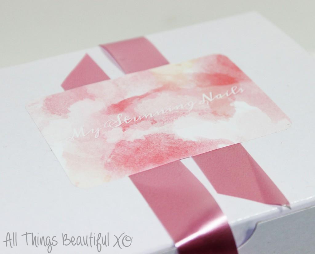 My Stunning Nails November 2014 Nail Art Box + Girly Design from All Things Beautiful XO