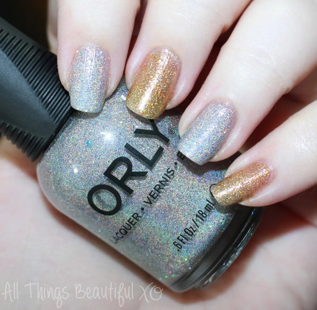 ORLY Mirrorball & Bling Holo Polishes & Born Pretty Houndstooth Decals from All Things Beautiful XO