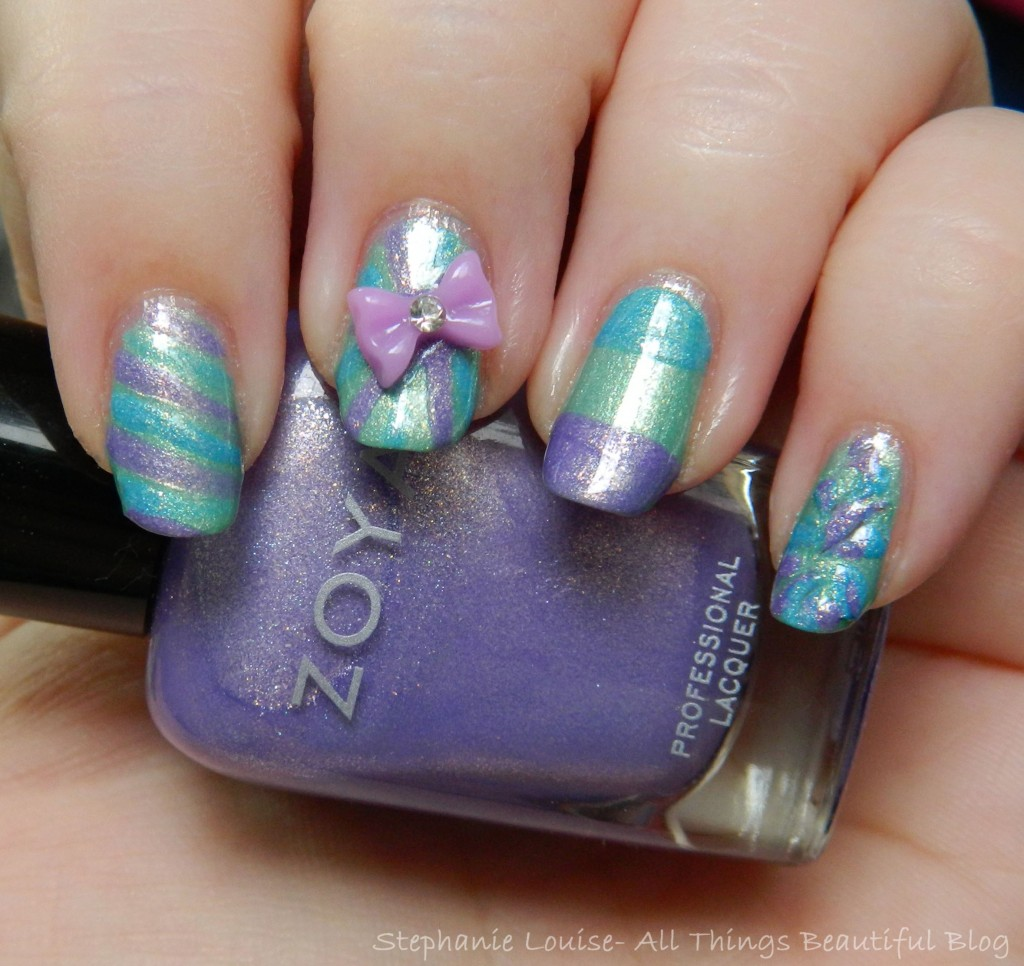 Zoya Easter Pastel Bow Manicure DIY #nailart from All Things Beautiful XO (pictured is Zoya Hudson)