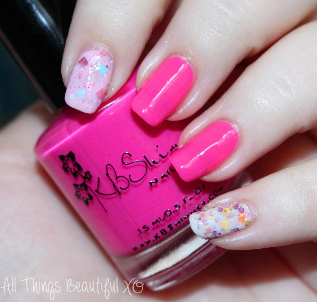 Easy Valentineu0027s Day Nail Art Wrapped With A Bow Featuring KBShimmer U0026  Glitter! Featuring KBShimmer
