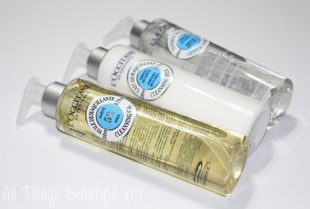 L'Occitane Shea Skincare- Cleansing Oil, Milk, & Toner Reviews