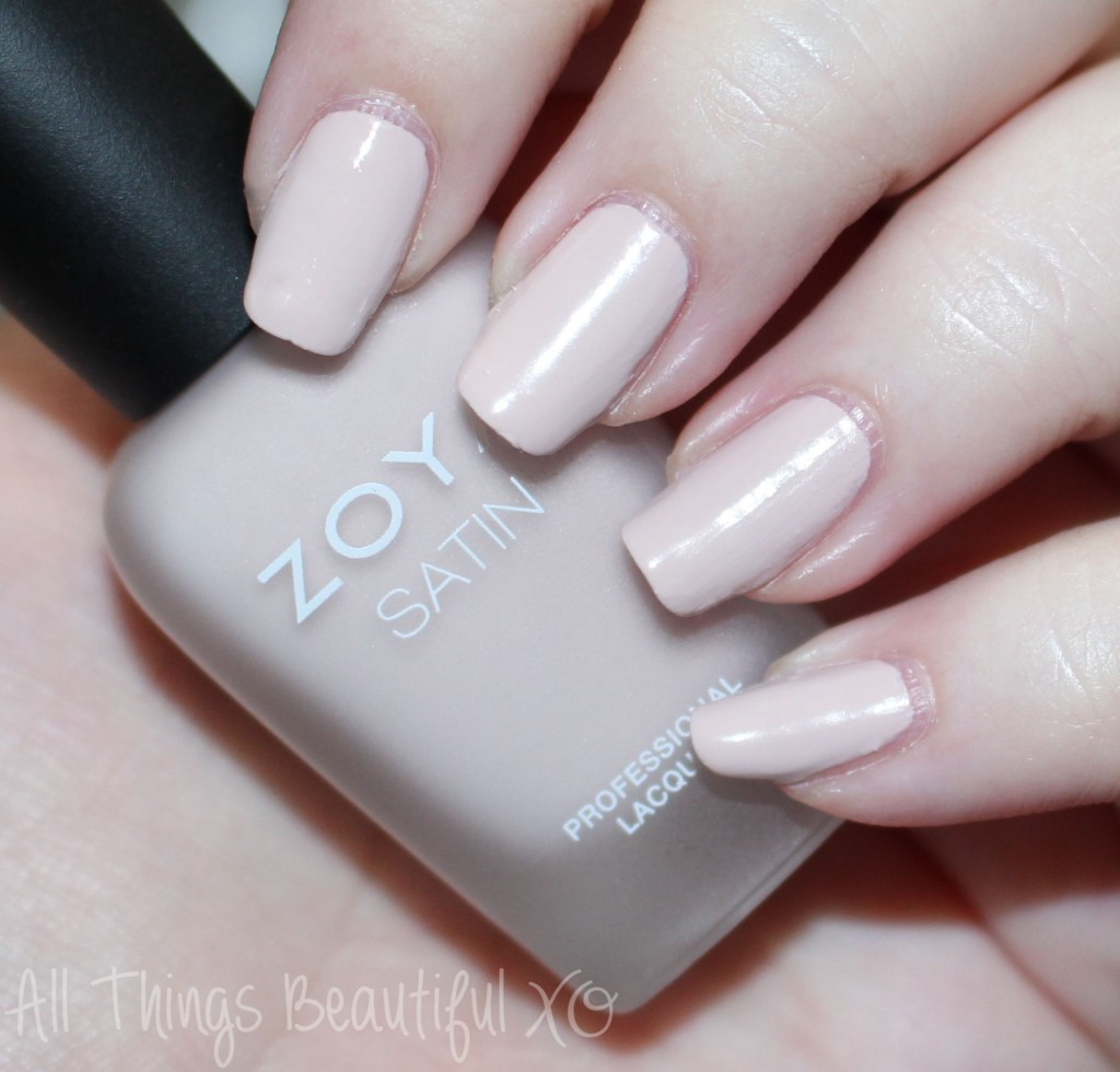 This is Zoya Ana from the Zoya Naturel Satin Nail Polish Collection for 2015 Swatches & Review on All Things Beautiful XO
