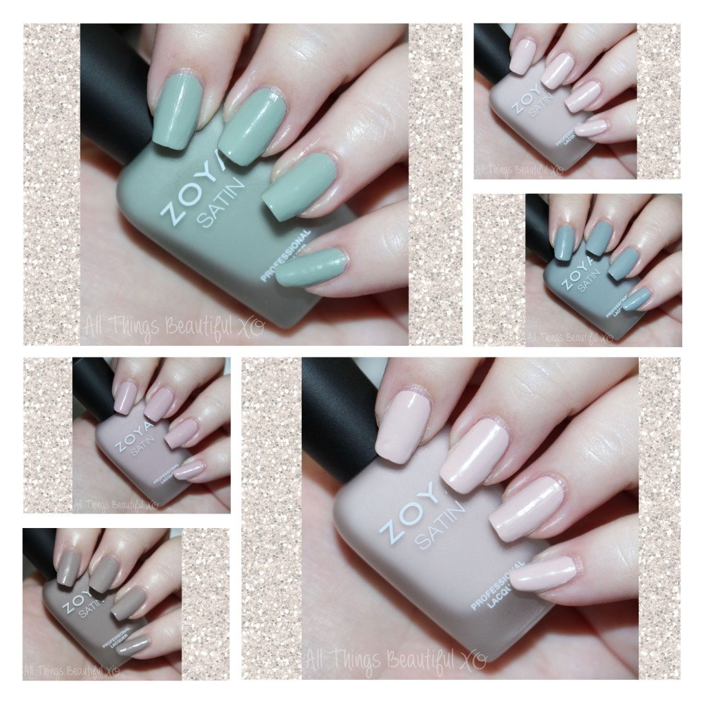 Zoya Naturel Satin Nail Polish Collection for 2015 Swatches & Review on All Things Beautiful XO