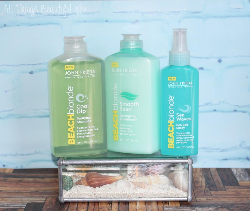 John Frieda Beach Blonde Beachy Hair Products Review on All Things Beautiful XO   www.allthingsbeautifulxo.com