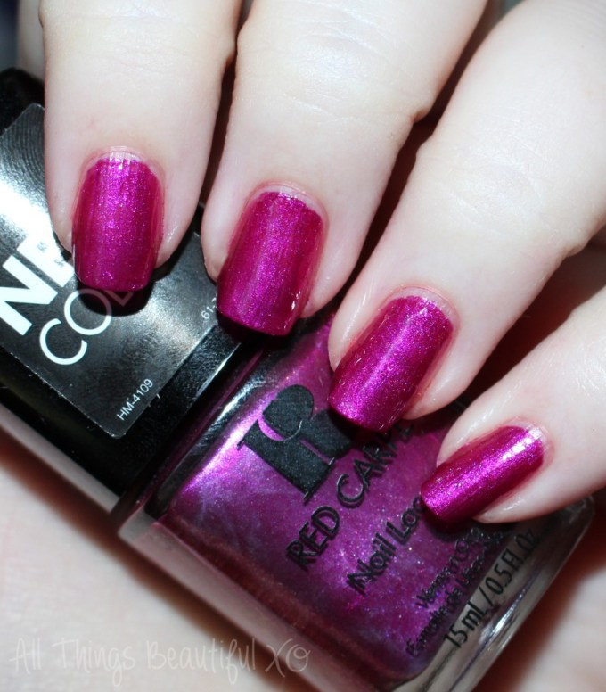 Red Carpet Nail Lacquer in Obsessed Swatches -- Gorgeous Red Carpet Manicure Nail Lacquers with Swatches & Review on All Things Beautiful XO | www.allthingsbeautifulxo.com