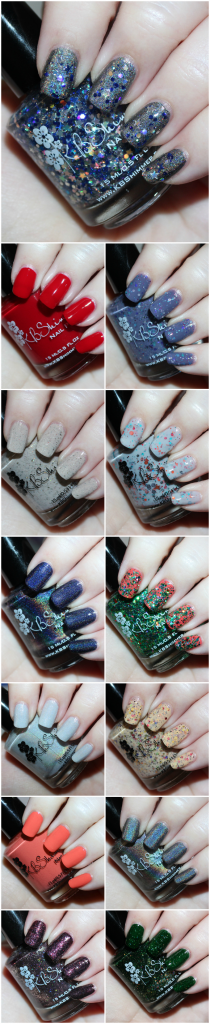 Check out full swatches & review of all the KBShimmer Nail polish shades for winter/holiday- including some gorgeous holo & glitter options! Check them all out on All Things Beautiful XO