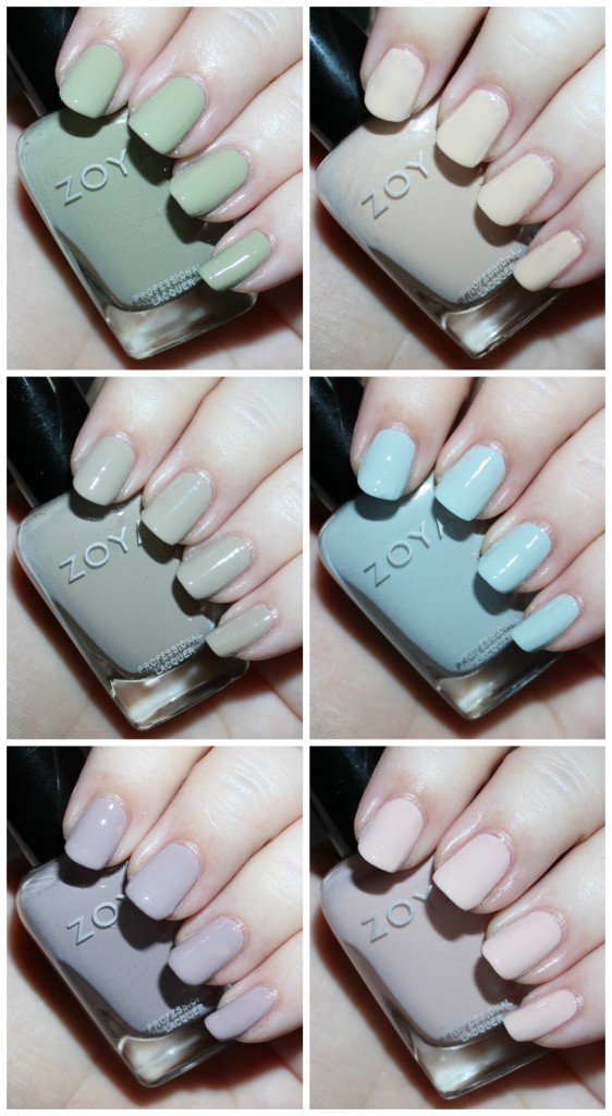 Swatches & review of the Zoya Whispers Transitional 2016 Nail Polish Collection including the shades April, Cala, Lake, Eastyn, Ireland, & Misty on All Things Beautiful XO