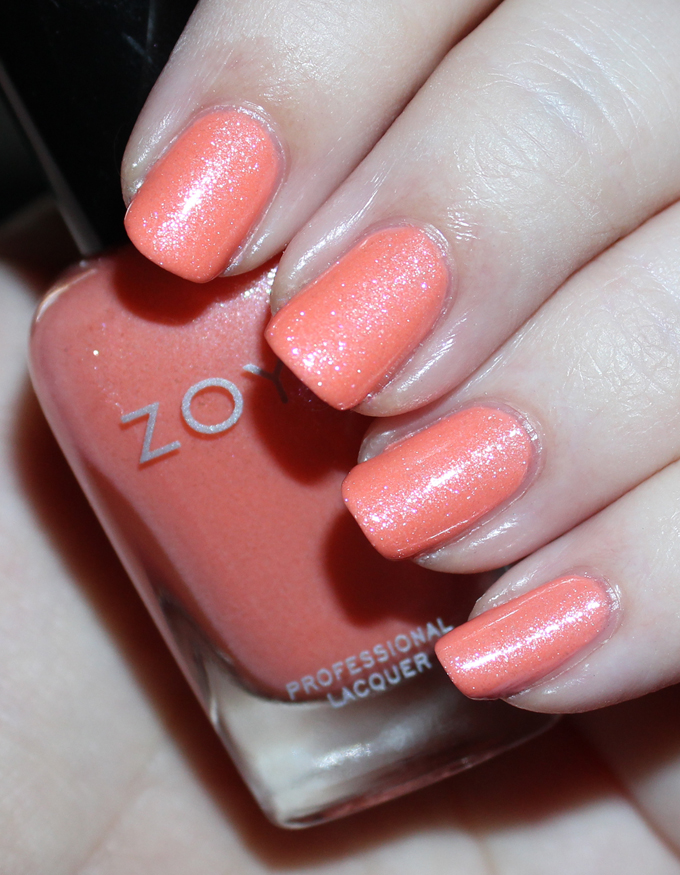 This is Zoya Zahara  Swatches & review of the Zoya Petals Collection including the shades Leia, Aster, Zahara, Laurel, Azalea, & Tulip. See more beauty, nail, tutorial, & glam posts on All Things Beautiful XO