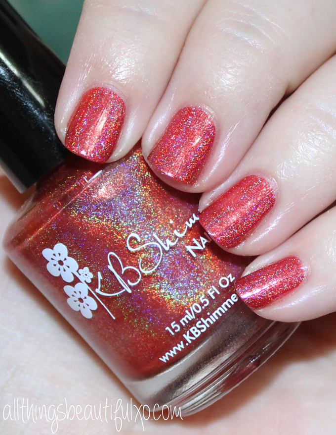 This is KBShimmer Poppy Kisses Swatches & Review of the KBShimmer Fall / Autumn Collection 2016 . Check out more posts on nail art, makeup looks, & beauty reviews on All Things Beautiful XO
