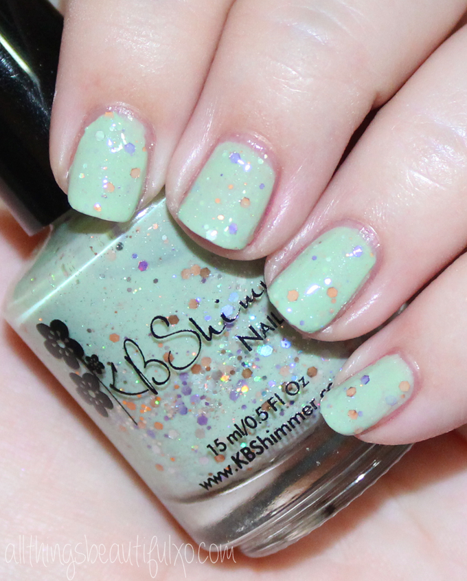 This is KBShimmer Sage It Ain't So Swatches & Review of the KBShimmer Fall / Autumn Collection 2016 . Check out more posts on nail art, makeup looks, & beauty reviews on All Things Beautiful XO