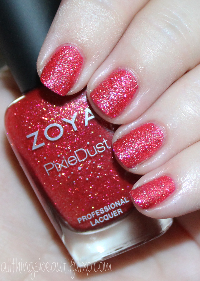 This is Zoya Linds  Swatches & Review of the Zoya Pixie Dust Seashells Collection including Levi, Bay, Cece, Linds, Zooey, & Tilly on All Things Beautiful XO