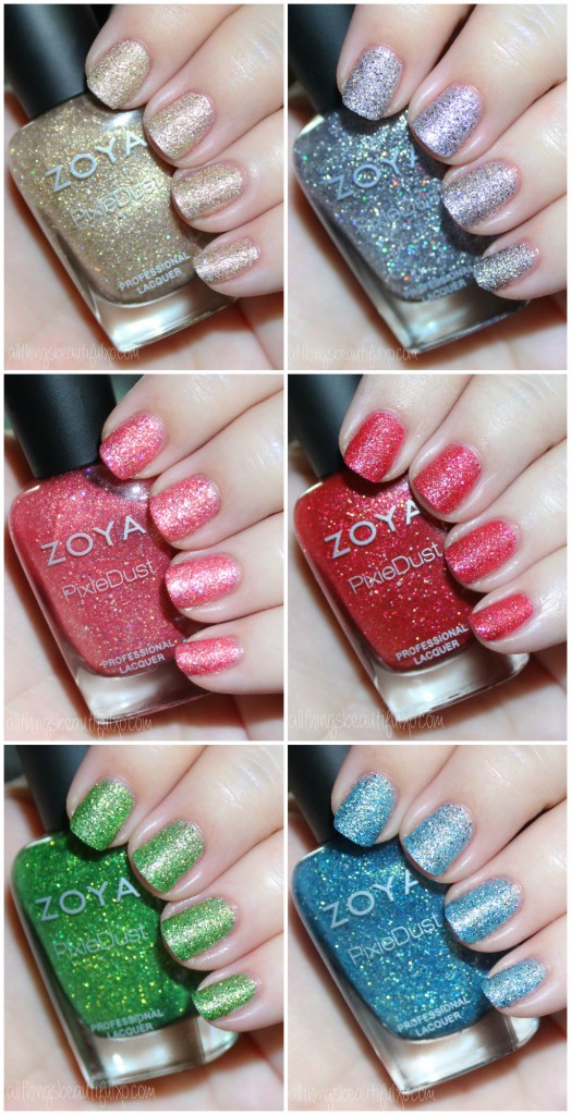 Zoya Pixie Dust Seashells Collection Swatches Review