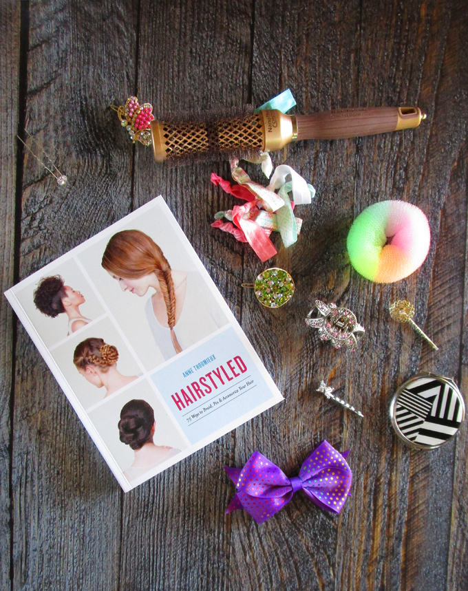 "Inside Hairstyled by Anne Thoumieux you'll find ""75 Ways to Braid, Pin & Accessorize Your Hair"". Check out a full review on All Things Beautiful XO along with makeup tutorials, nail art, & more!"