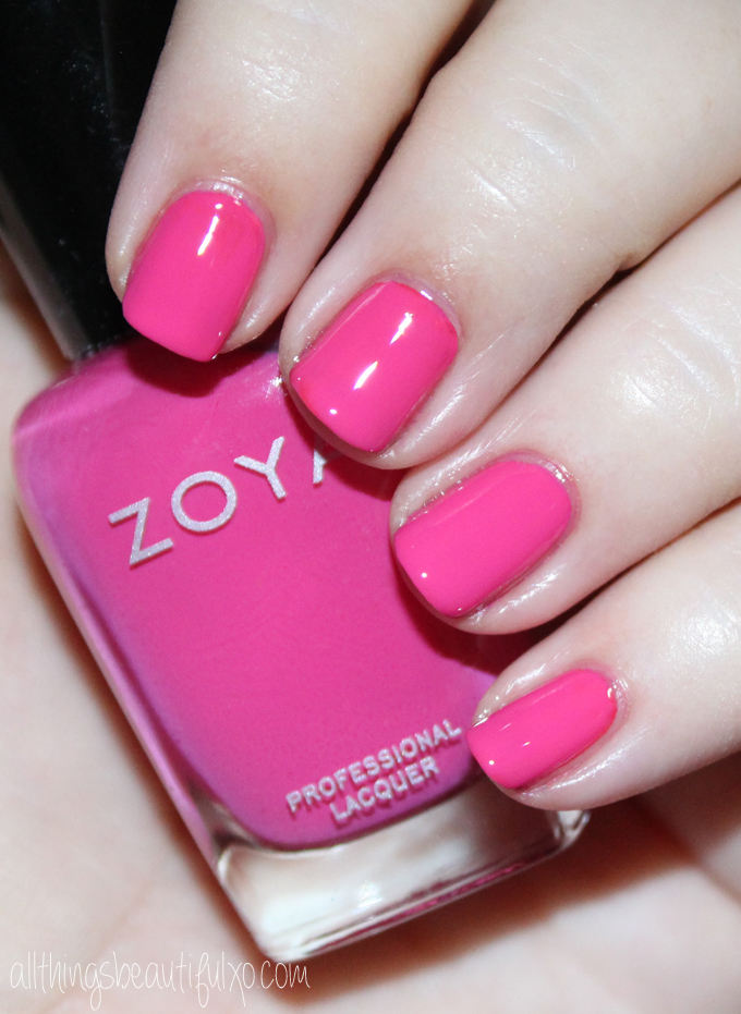 This is Zoya Brynn  Swatches & review of the Zoya Nail Polish Sunsets Collection including the shades Dory, Brynn, Liz, Cam, Dixie, & Ness on All Things Beautiful XO along with other beauty reviews, nail art, hair tutorials, & much more!
